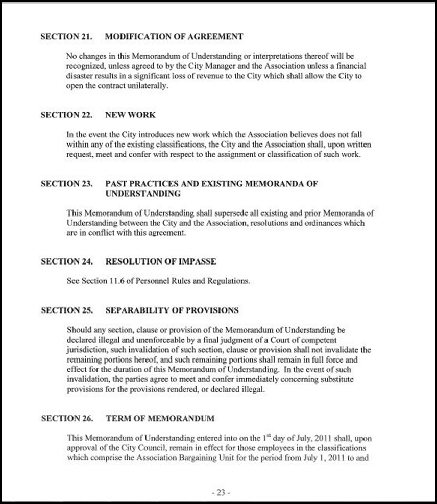 MOU-Management-Confidential Employees Page 4-23