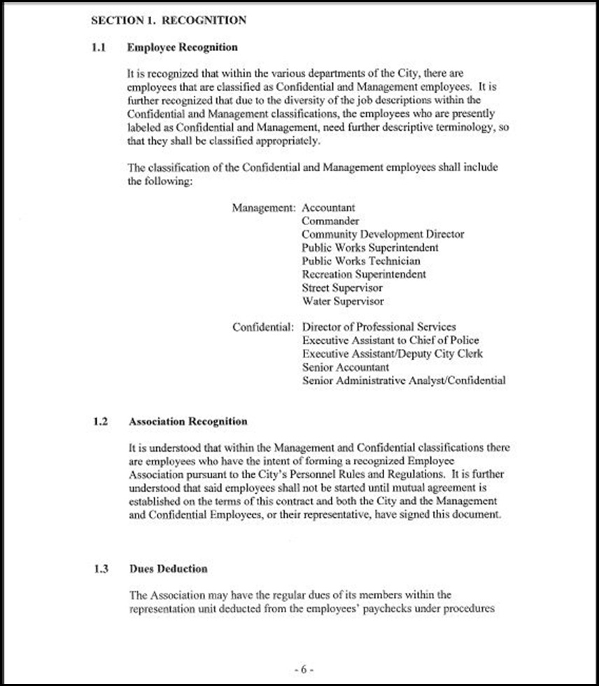 MOU-Management-Confidential Employees Page 4-6