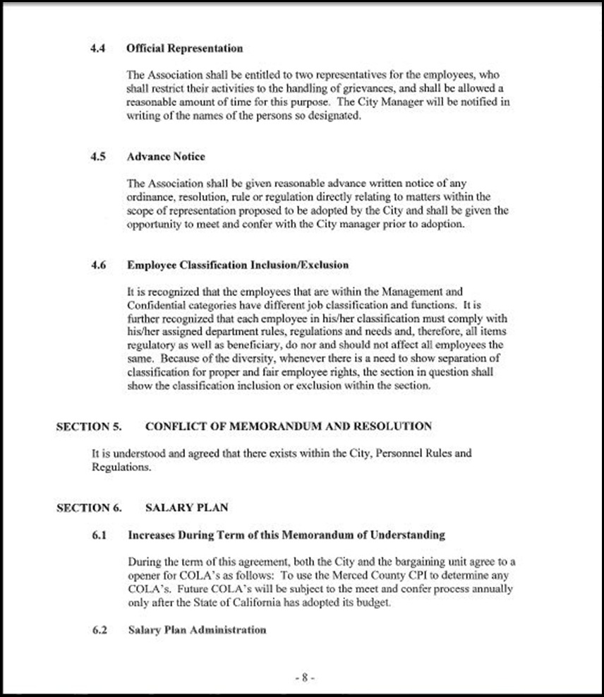 MOU-Management-Confidential Employees Page 4-8