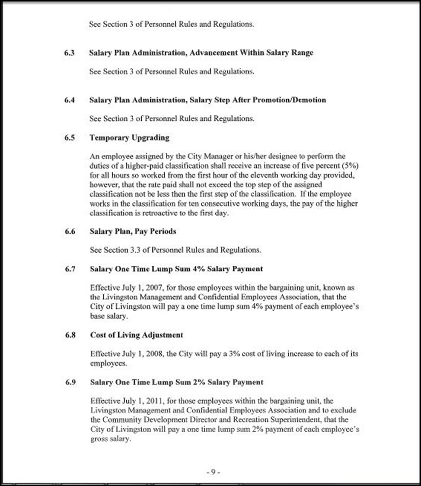 MOU-Management-Confidential Employees Page 4-9