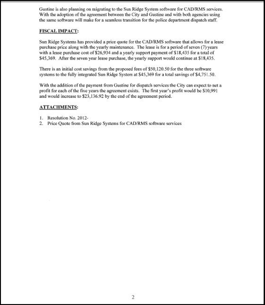 Sun Ridge System Page 2