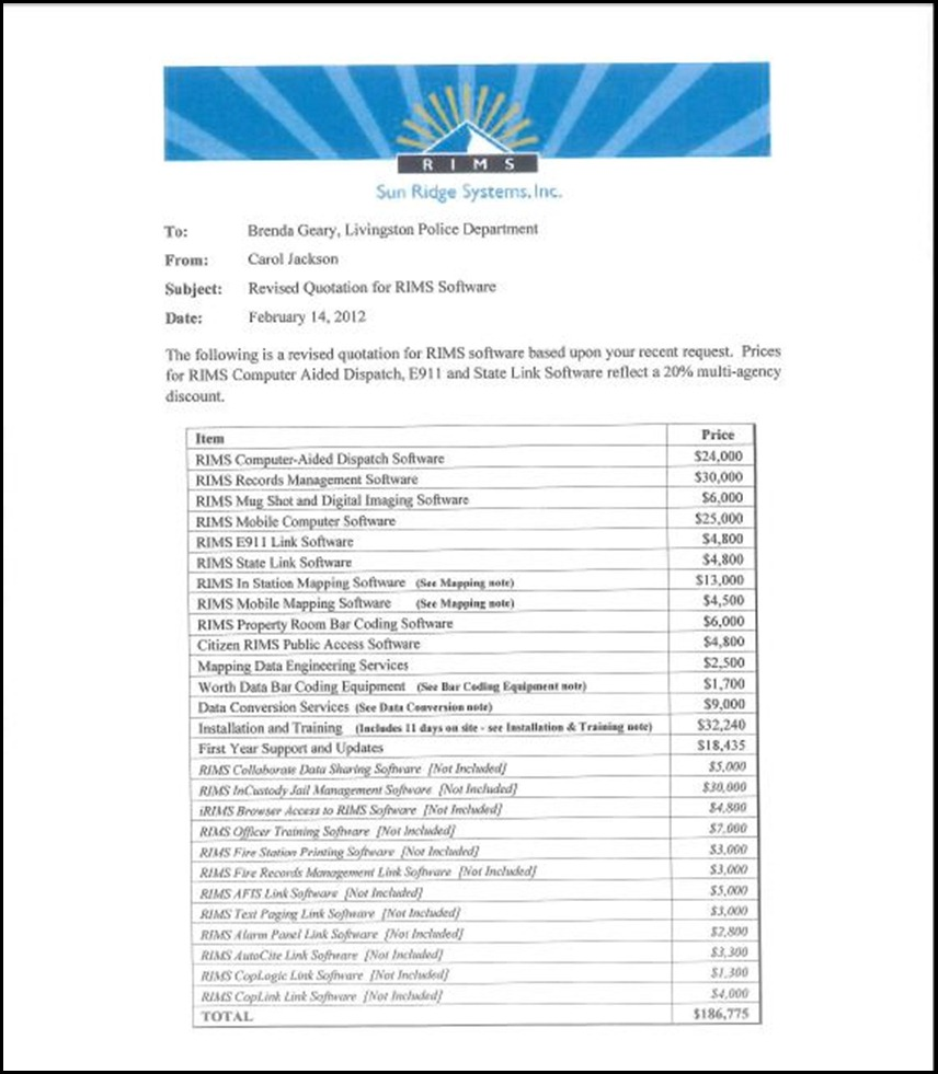 Sun Ridge System Page 4-1