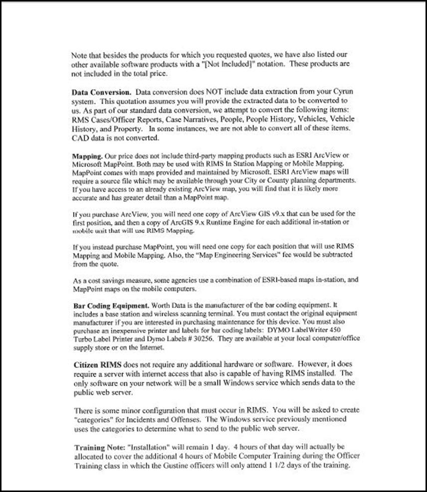 Sun Ridge System Page 4-2