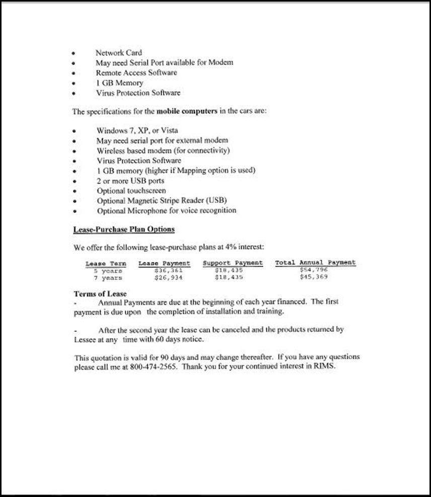 Sun Ridge System Page 4-4