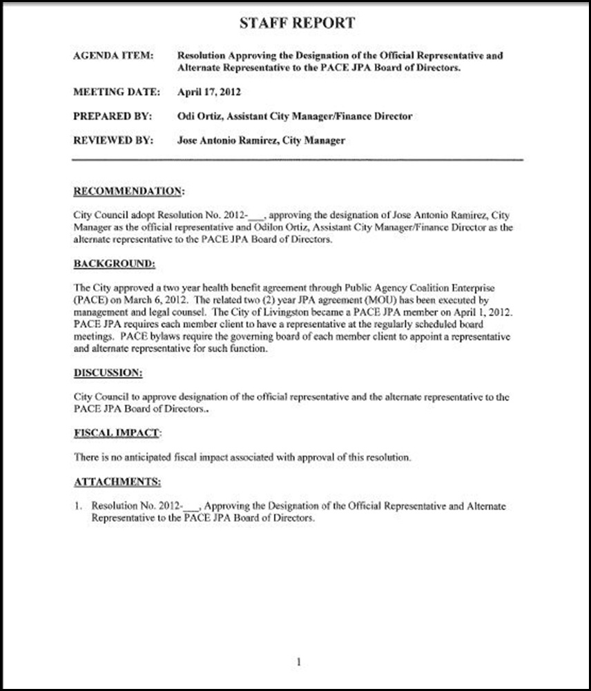 Board of Directors Page 1