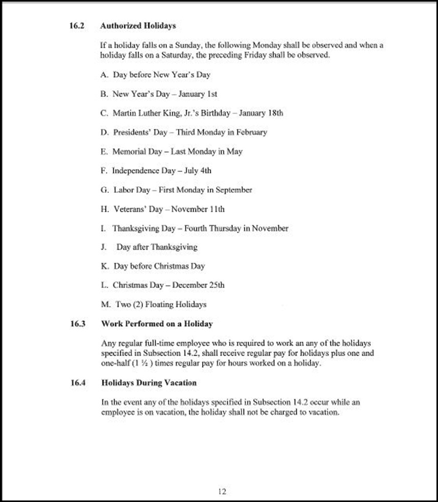 Clerical Empl MOU Page 5-12