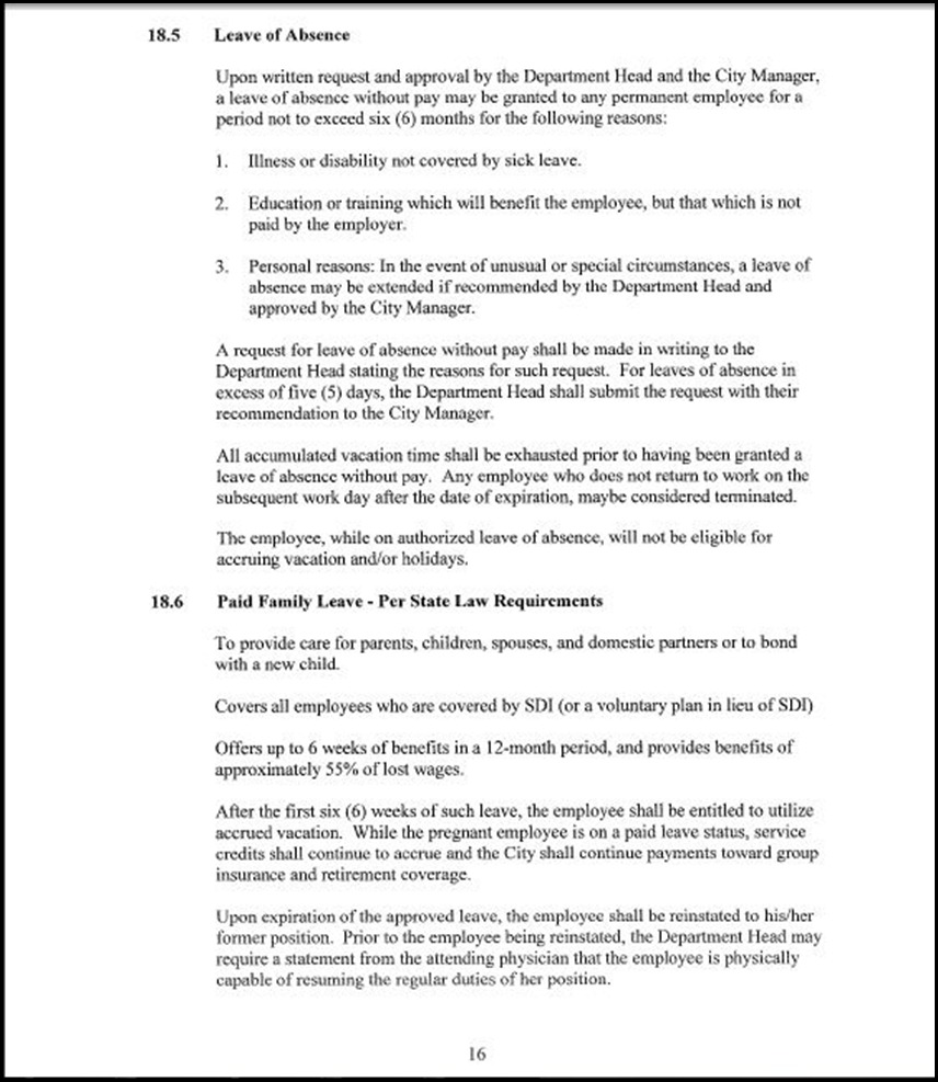Clerical Empl MOU Page 5-16
