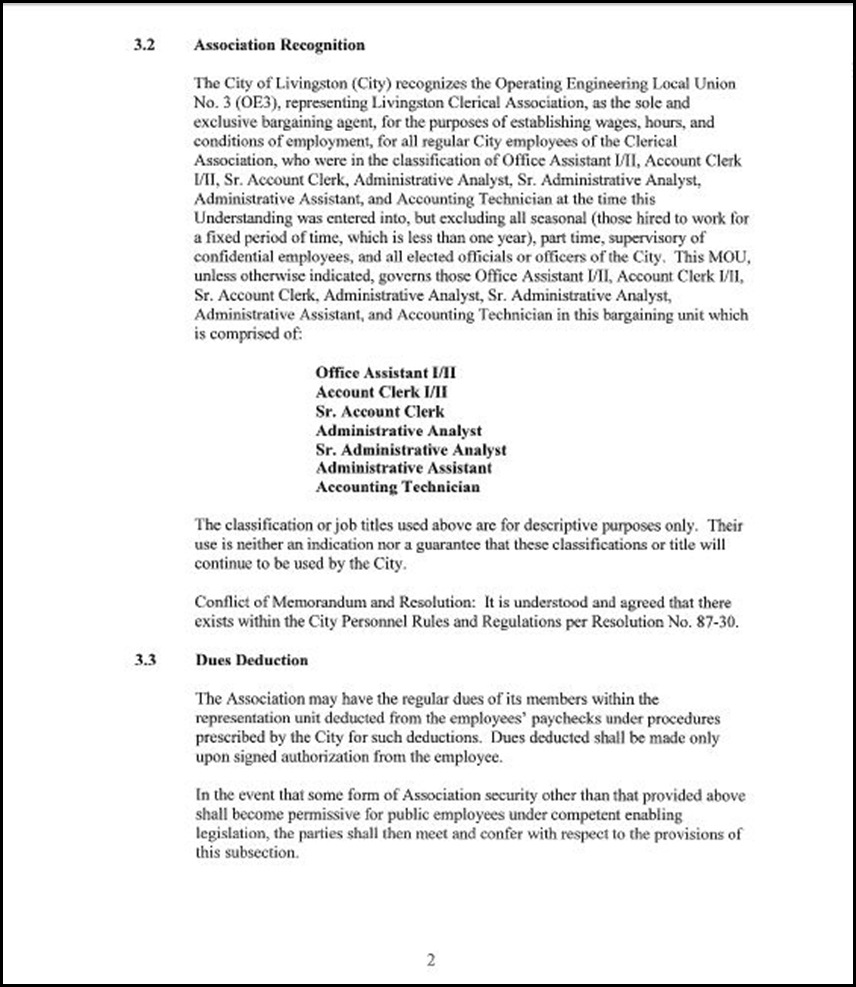 Clerical Empl MOU Page 5-2