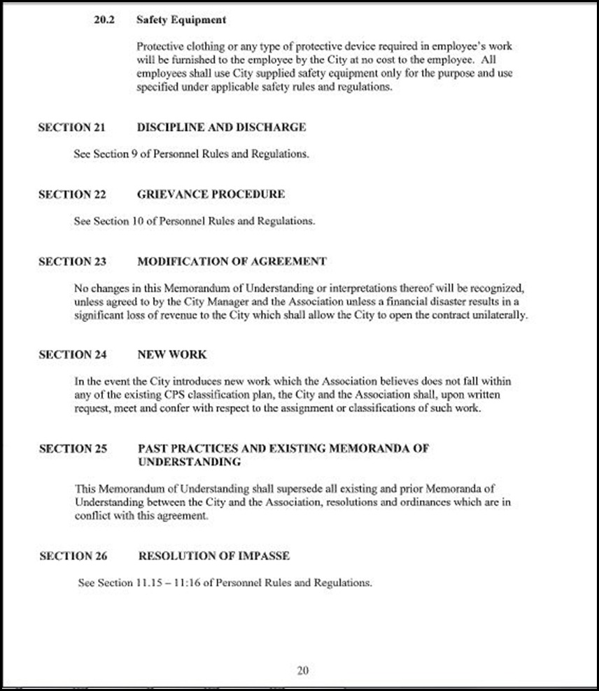 Clerical Empl MOU Page 5-20