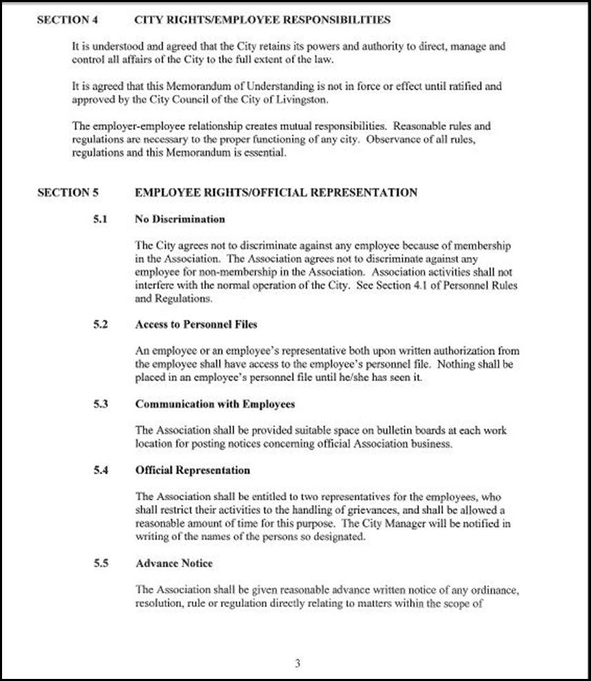 Clerical Empl MOU Page 5-3