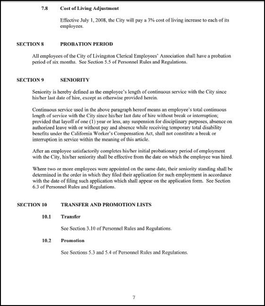 Clerical Empl MOU Page 5-7