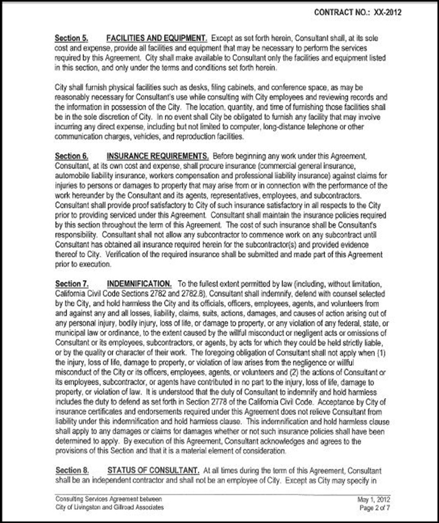Consulting Services Agreement Page 2