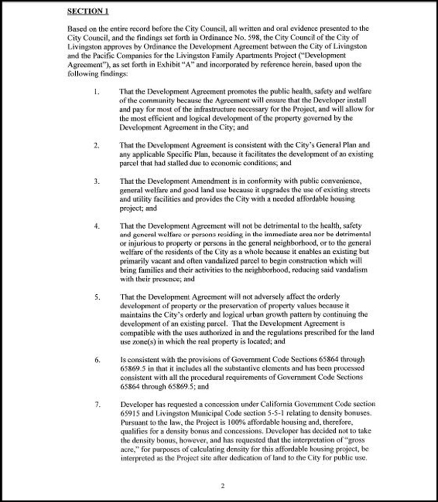 Development Agreement Page 3-2