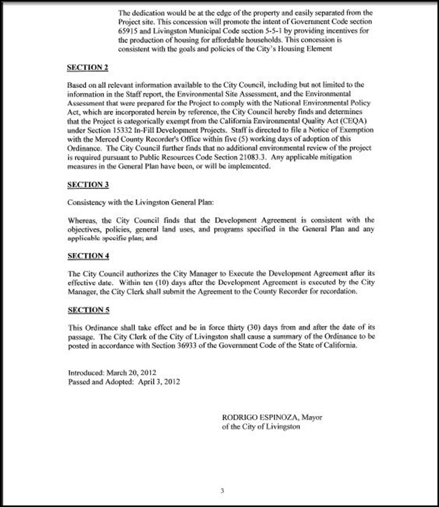Development Agreement Page 3-3
