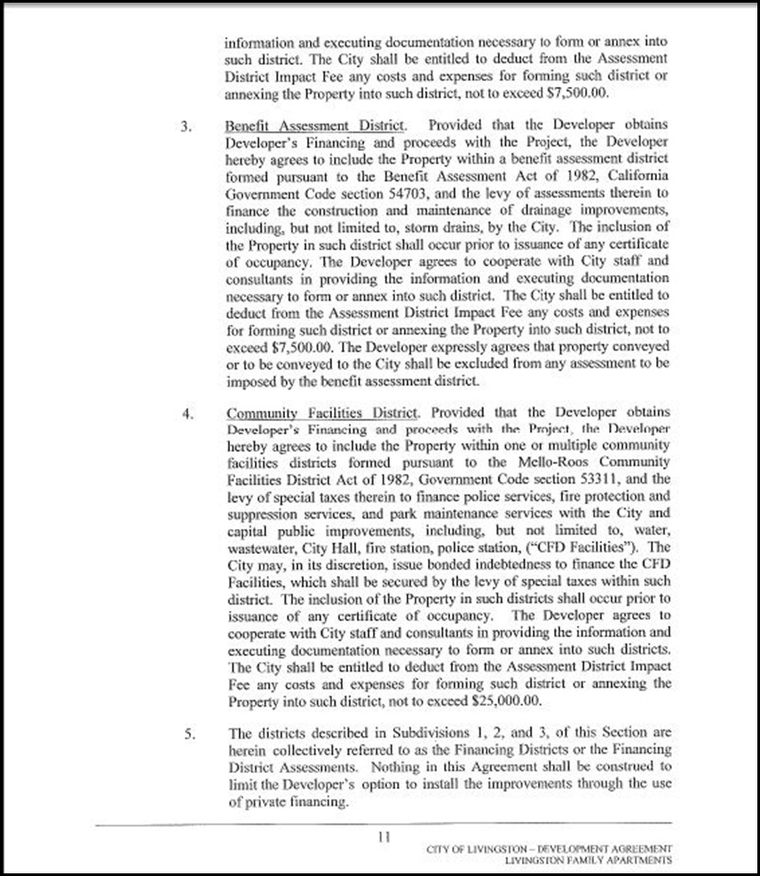 Development Agreement Page 4-11