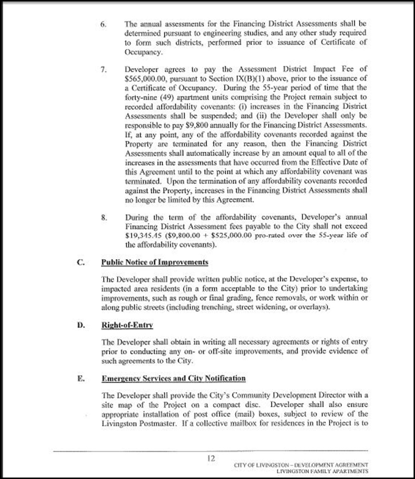 Development Agreement Page 4-12