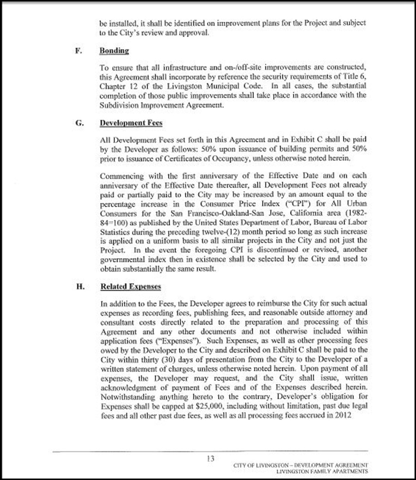 Development Agreement Page 4-13