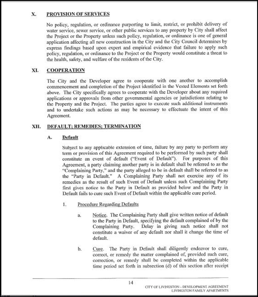 Development Agreement Page 4-14