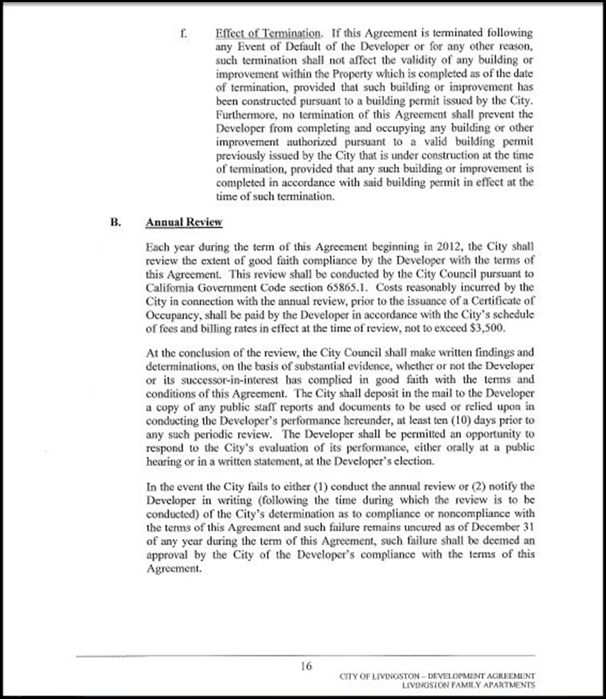 Development Agreement Page 4-16