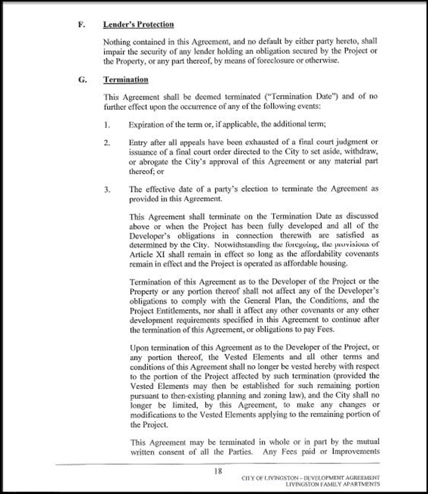 Development Agreement Page 4-18