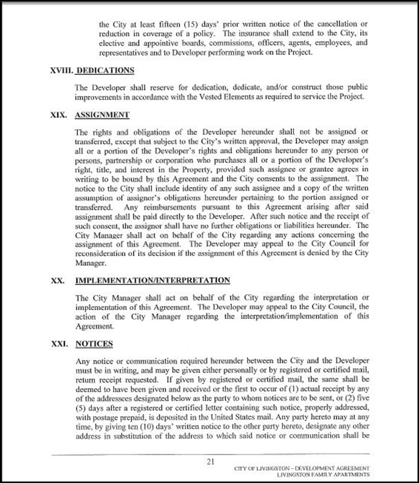Development Agreement Page 4-21
