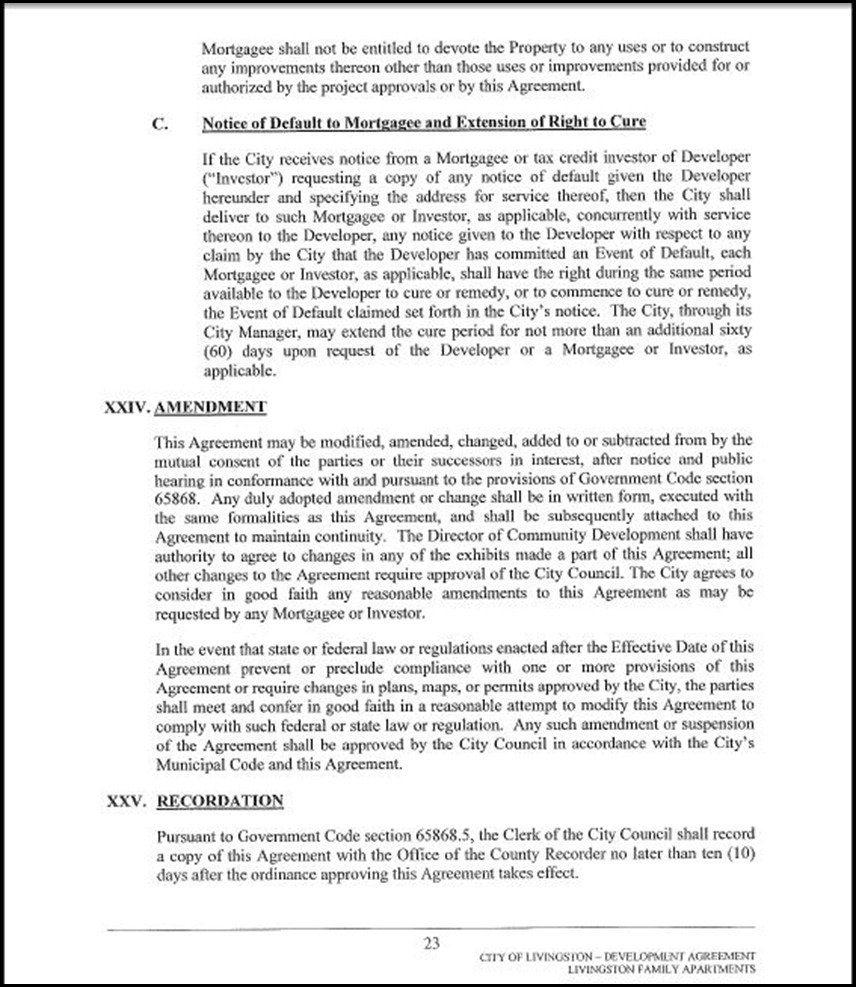 Development Agreement Page 4-23