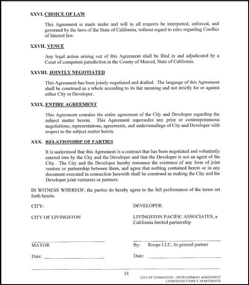 Development Agreement Page 4-24