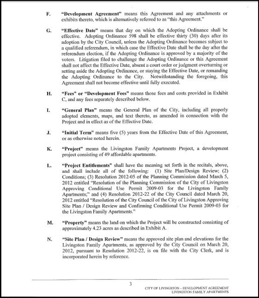 Development Agreement Page 4-3