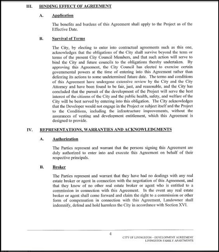 Development Agreement Page 4-4