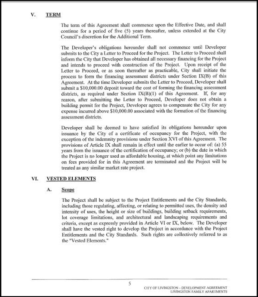Development Agreement Page 4-5