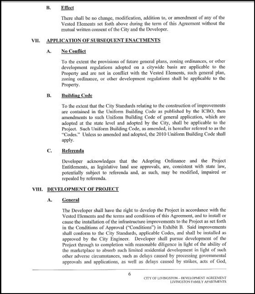 Development Agreement Page 4-6