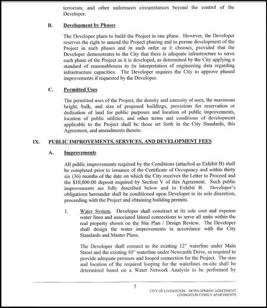 Development Agreement Page 4-7