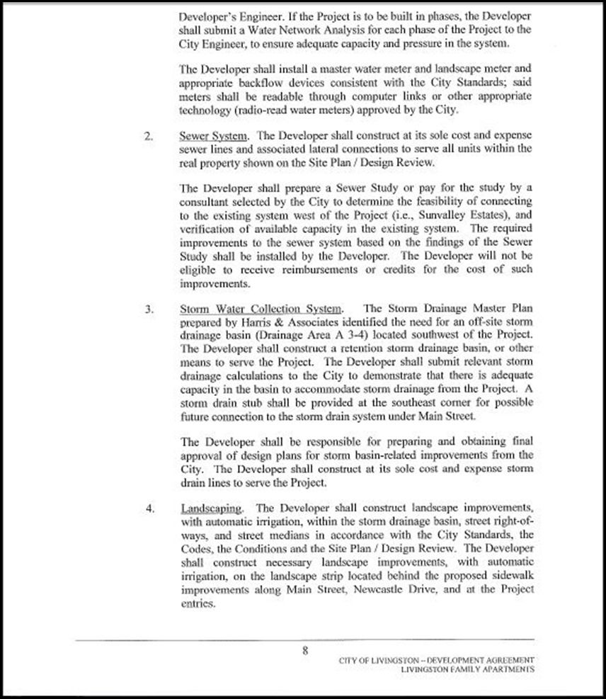 Development Agreement Page 4-8