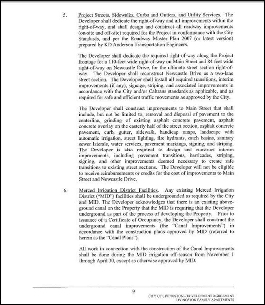 Development Agreement Page 4-9