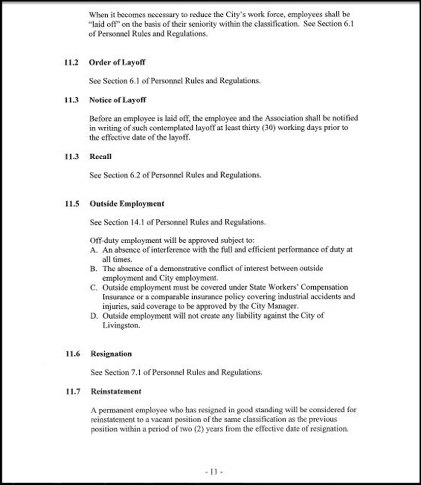Management and Confidential Employees Association Page 3-11