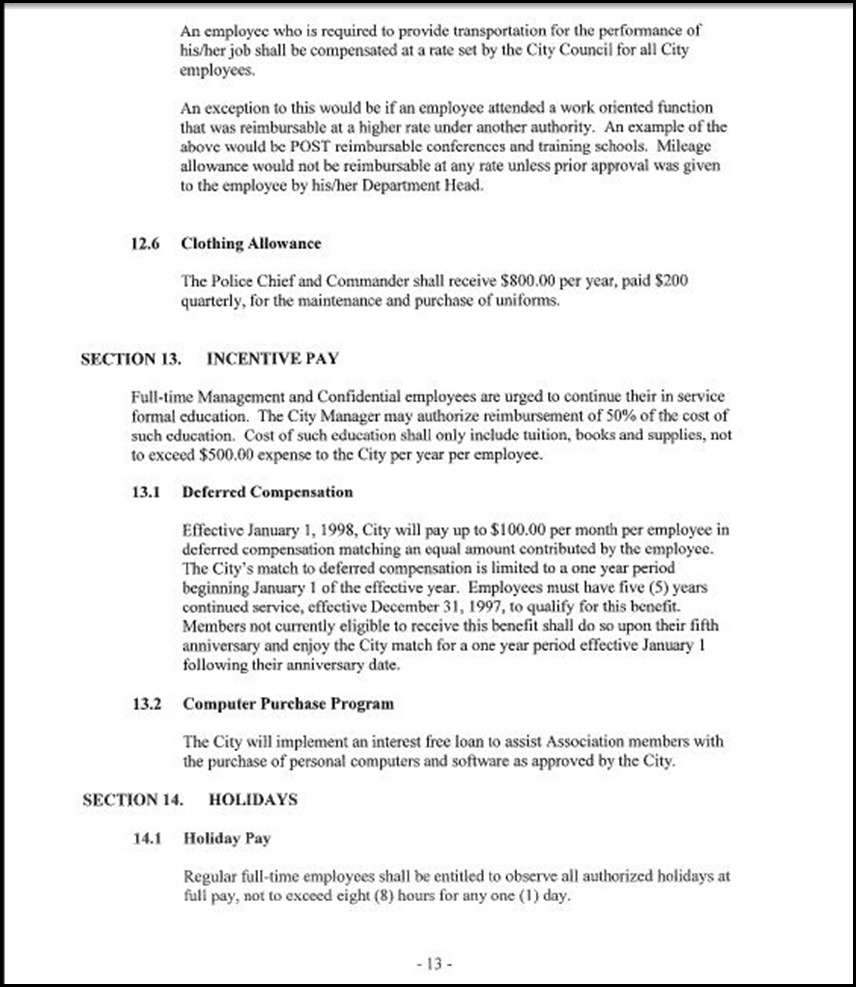 Management and Confidential Employees Association Page 3-13