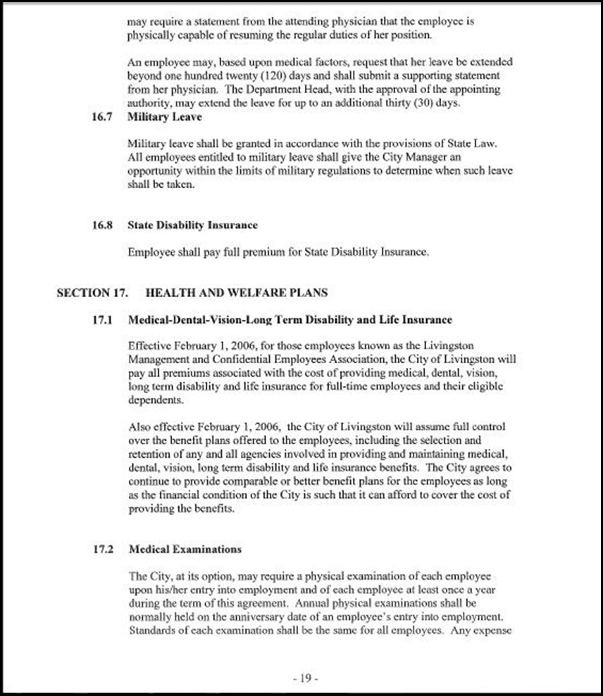 Management and Confidential Employees Association Page 3-19