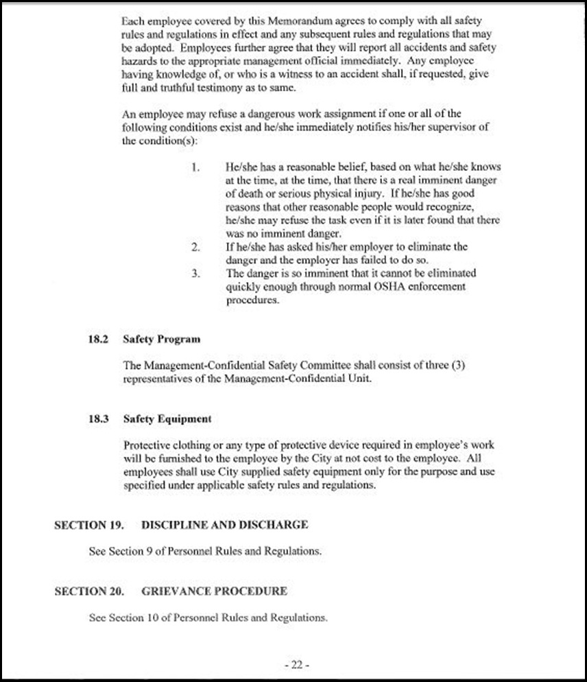Management and Confidential Employees Association Page 3-22