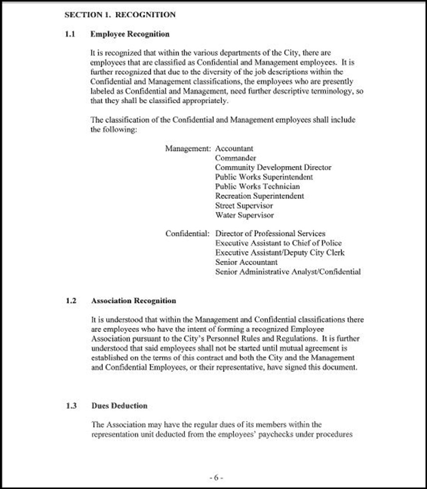 Management and Confidential Employees Association Page 3-6