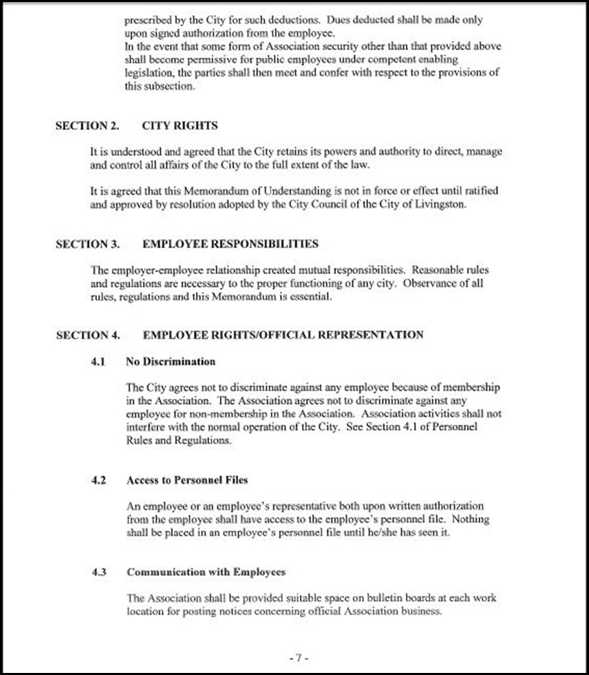 Management and Confidential Employees Association Page 3-7