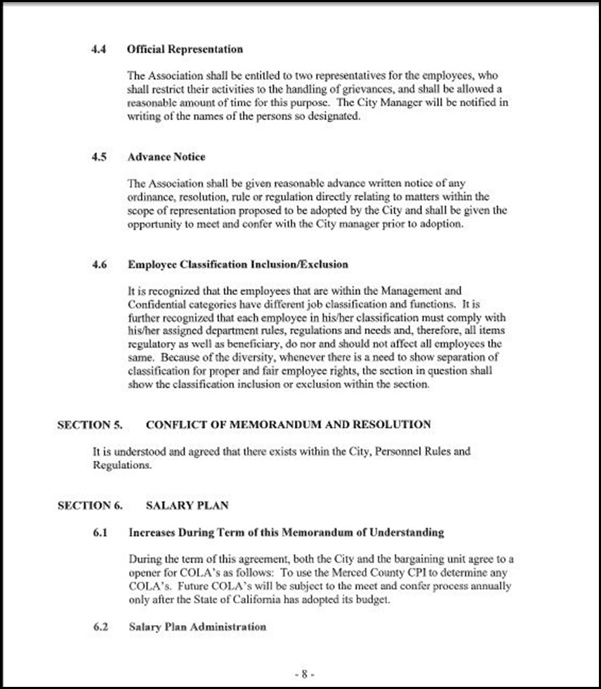 Management and Confidential Employees Association Page 3-8