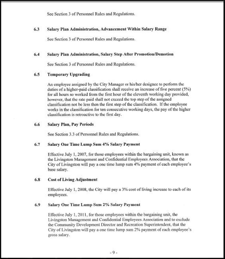Management and Confidential Employees Association Page 3-9