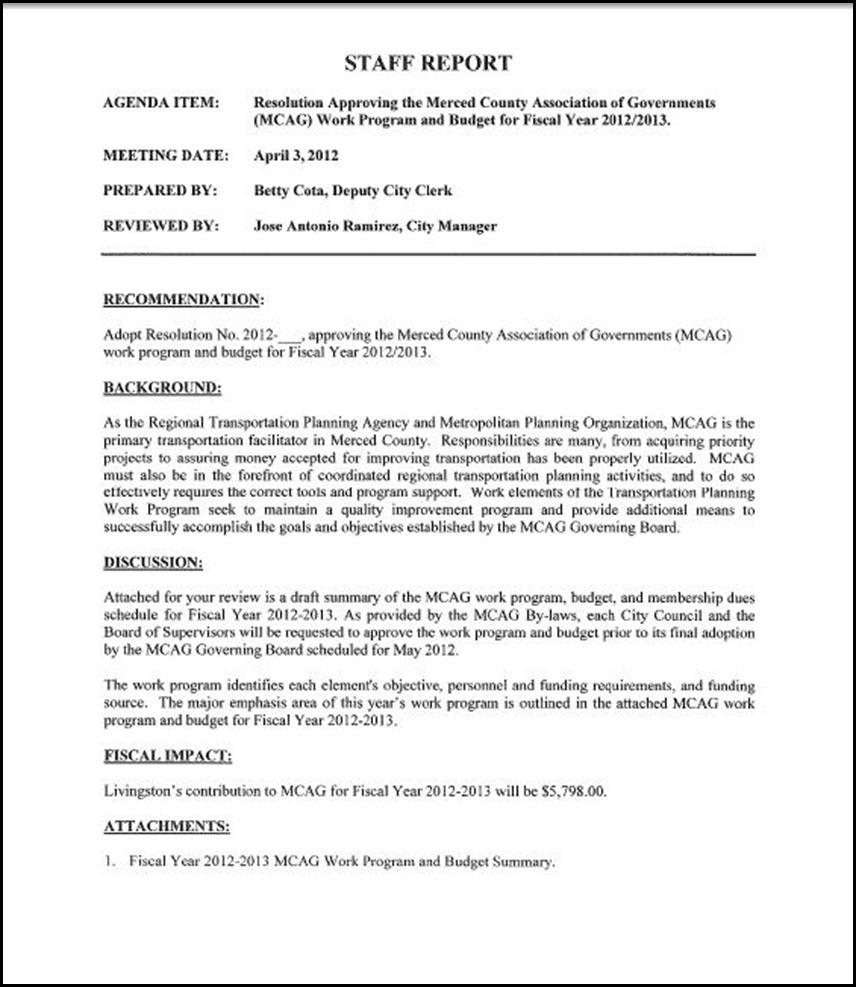 MCAG Work Program Page 1
