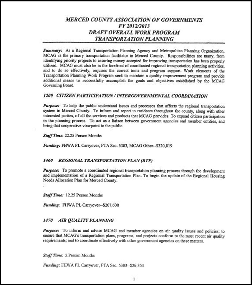 MCAG Work Program Page 6-1