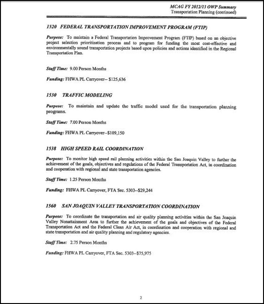 MCAG Work Program Page 6-2