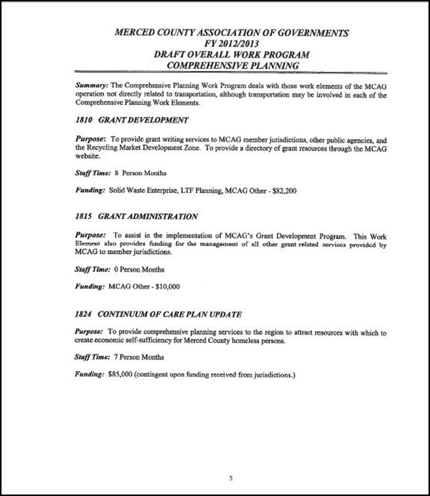 MCAG Work Program Page 6-5