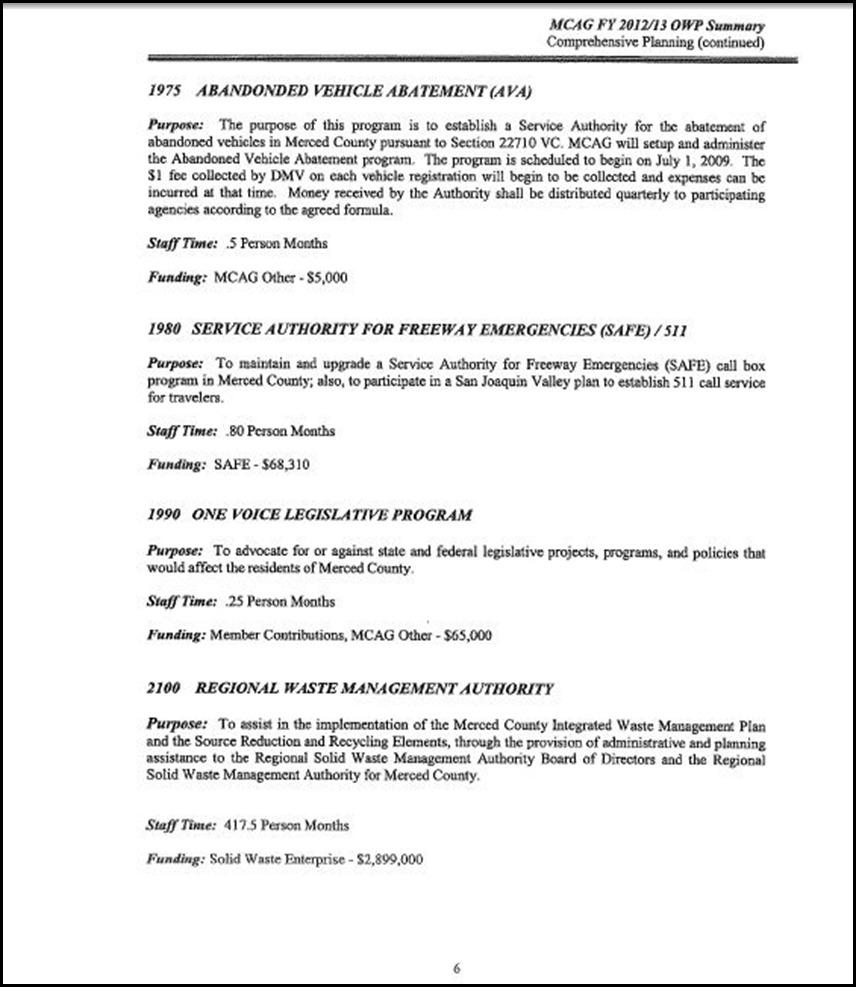 MCAG Work Program Page 6-6