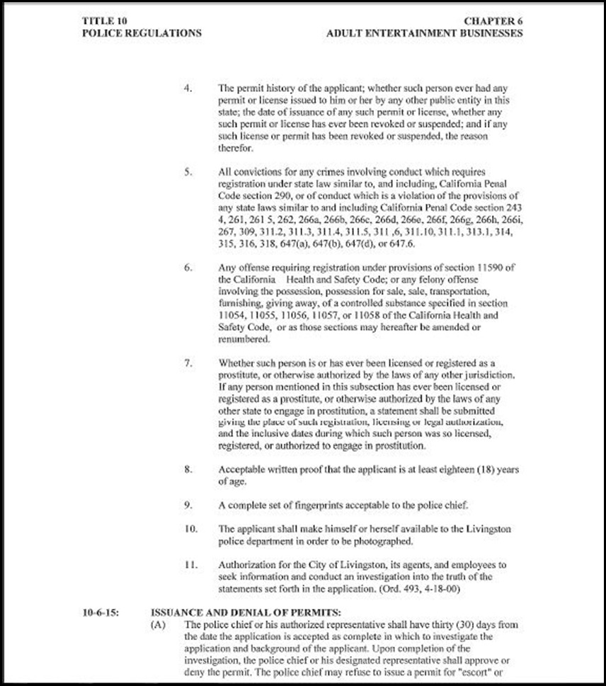 Police Regulations Page 15