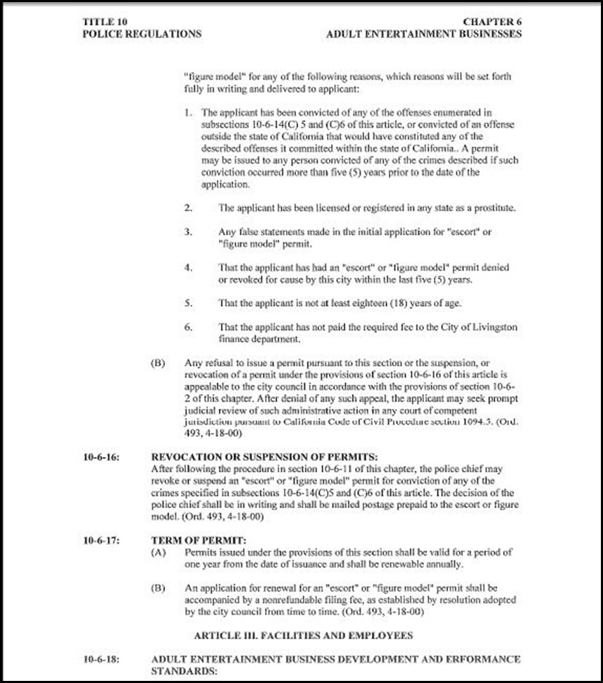 Police Regulations Page 16