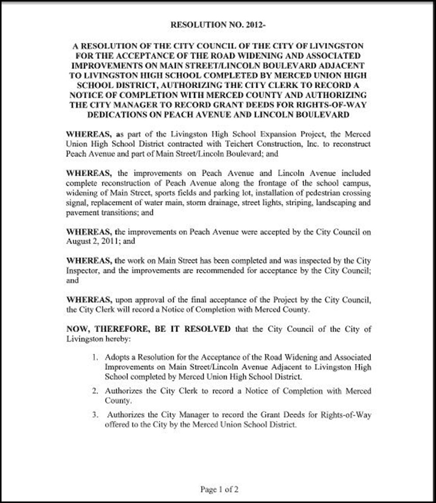 Main St Improvements Page 3-1